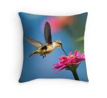 Art of Hummingbird Flight Throw Pillow