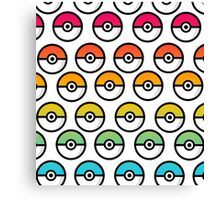 Rainbow Pokeball Canvas Print