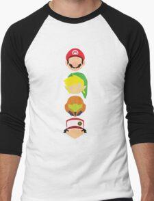Nintendo Greats - Vertical Men's Baseball ¾ T-Shirt