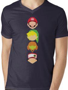 Nintendo Greats - Vertical Mens V-Neck T-Shirt