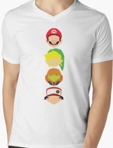 Nintendo Greats - Vertical Mens V-Neck T-Shirt