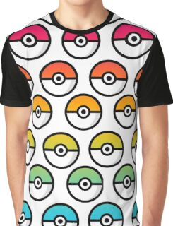 Rainbow Pokeball Graphic T-Shirt