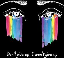 Sia the greatest - don't give up (white) Photographic Print
