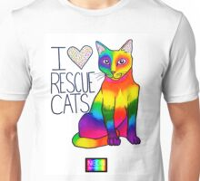 I (Heart) Rescue Cats Unisex T-Shirt