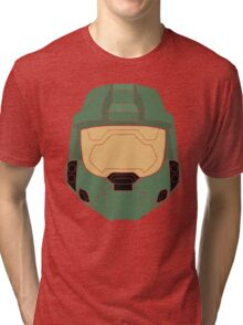 Stencilled Master Chief Tri-blend T-Shirt