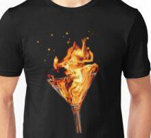 Flaming Martini Unisex T-Shirt