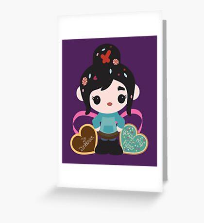 Ms. Vanellope von Schweetz Greeting Card