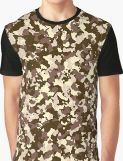 Brown camo pattern Graphic T-Shirt