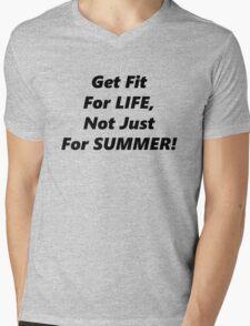 Fit For Life! Mens V-Neck T-Shirt