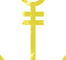Anchor's Away (Yellow) Sticker