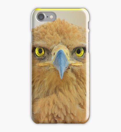 Tawny Eagle - Focus Intensity - African Wild Bird Background iPhone Case/Skin