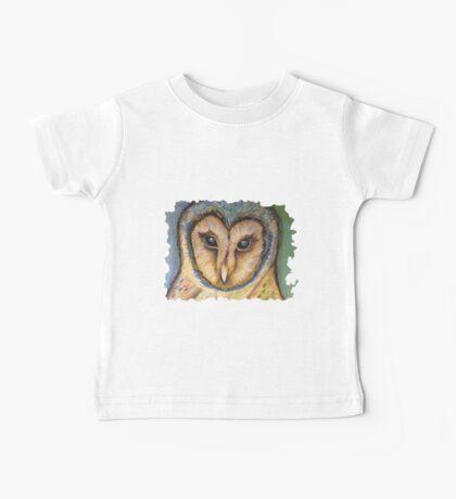 Majestic Owl Oil Pastel Baby Tee