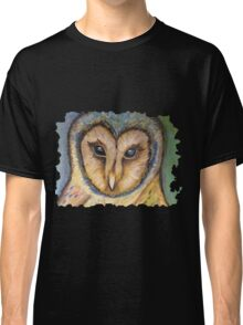 Majestic Owl Oil Pastel Classic T-Shirt