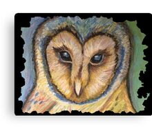 Majestic Owl Oil Pastel Canvas Print