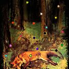 Degas' Dead fox in the forest by Ally Nix by KukiWho