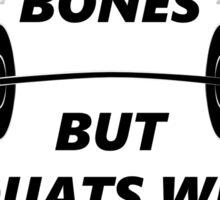 Badass Squats  - Black Sticker