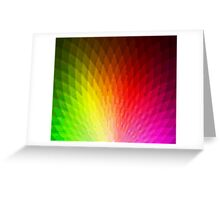 Peachy Peacock Pixelate [Rainbow] Greeting Card
