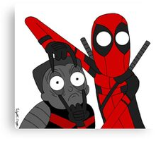 Deadpool and Colossus Canvas Print