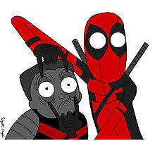 Deadpool and Colossus Photographic Print