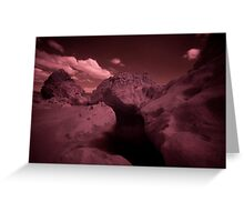 Infra Red - Dark Pool Greeting Card