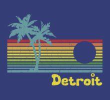 Tropical Detroit (funny vintage design) by robotface