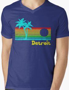 Tropical Detroit (funny vintage design) Mens V-Neck T-Shirt