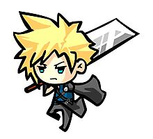Chibi Cloud Strife Photographic Print