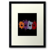 Prime Beams Splatter (Transparent Symbols) Framed Print