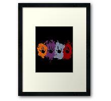 Prime Beams Splatter (Transparent Symbols) Framed Print