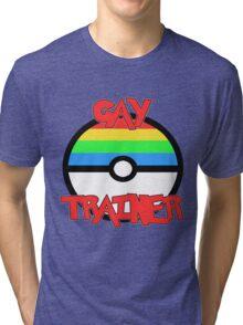 Pokemon - Gay Trainer Tri-blend T-Shirt