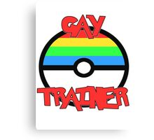 Pokemon - Gay Trainer Canvas Print