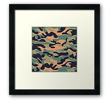 Military Camouflage Pattern 3 Framed Print