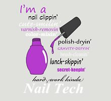 Nail Tech (purple polish) Womens Fitted T-Shirt