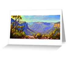 Govetts Leap Lookout, Blue Mountains Greeting Card