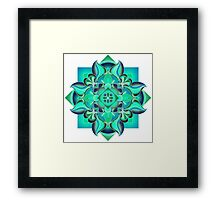 Pop Mandala Framed Print