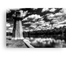 Lighthouse Along the Fox River Geneva, Illinois Canvas Print
