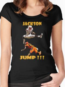 LAMAR JACKSON JUMP !! Women's Fitted Scoop T-Shirt
