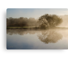 Beautiful Misty River Sunrise Landscape Canvas Print