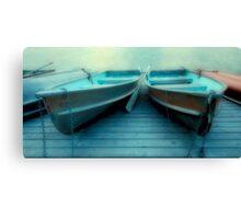 Row Boats At Pyramid Lake Canvas Print