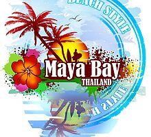 Maya Bay Thailand by dejava