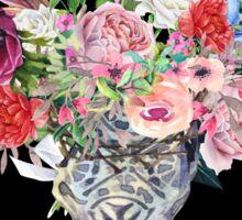 Skull & Flowers Sticker