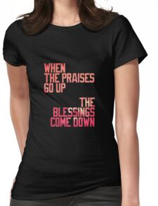 BLESSINGS. Womens Fitted T-Shirt