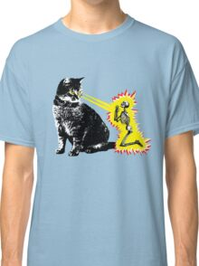 What your cat is really thinking, cat death ray Classic T-Shirt