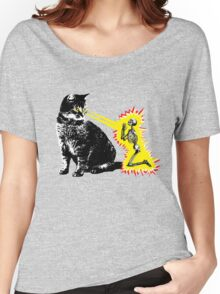 What your cat is really thinking, cat death ray Women's Relaxed Fit T-Shirt
