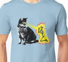 What your cat is really thinking, cat death ray Unisex T-Shirt