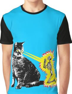 What your cat is really thinking, cat death ray Graphic T-Shirt