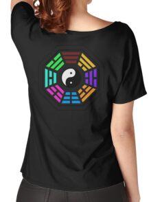 Yin yang coloured  Women's Relaxed Fit T-Shirt