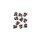 Animal print Hearts by Michelle *