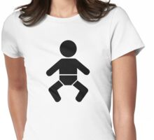 Baby icon Womens Fitted T-Shirt