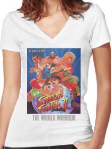 Street Fighter II Frank Ocean Shirt Women's Fitted V-Neck T-Shirt